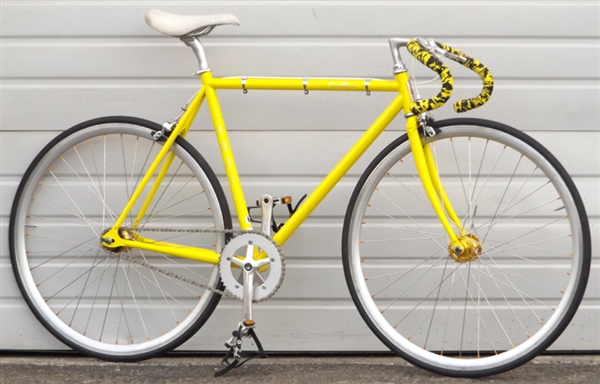 54cm fuji feather single speed fixed gear road bike 5 39 7. Black Bedroom Furniture Sets. Home Design Ideas