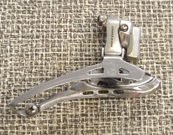 10 speed Campagnolo Record double front derailleur braze-on bottom pull