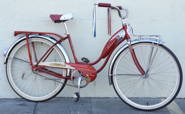 Small Schwinn Starlet Chicago Usa Bendix Vintage Beach Cruiser 5 0