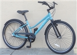 "Ladies BATCH Comfort Cruiser 3 Speed Fendered Aluminum City Bike Blue ~5'2""-5'7"""