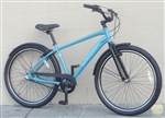 "Mens BATCH Comfort Cruiser 3 Speed Fendered Aluminum City Bike Blue ~5'6""-6'2"""