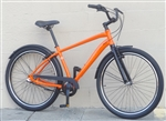 "Mens BATCH Comfort Cruiser 3 Speed Fendered Aluminum City Bike Orange ~5'6""-6'2"""