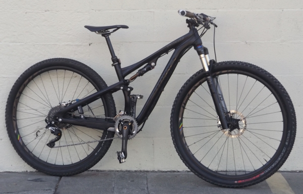 Small Specialized S Works Epic Carbon Full Suspension 29er Mountain