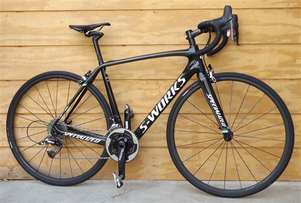 "54cm SPECIALIZED S-Works Tarmac Red Carbon Quarq Road Bike ~5'7""-5'10"""