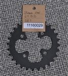 28t x 64 bcd Shimano steel chainring black