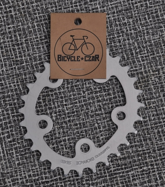 28t x 74 bcd Shimano Biopace aluminum chainring