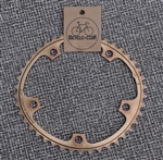 42t x 130 bcd Shimano Biopace aluminum chainring bronze