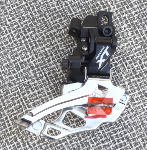 10 speed Shimano Deore XT FD-M786 triple front derailleur direct mount top pull new