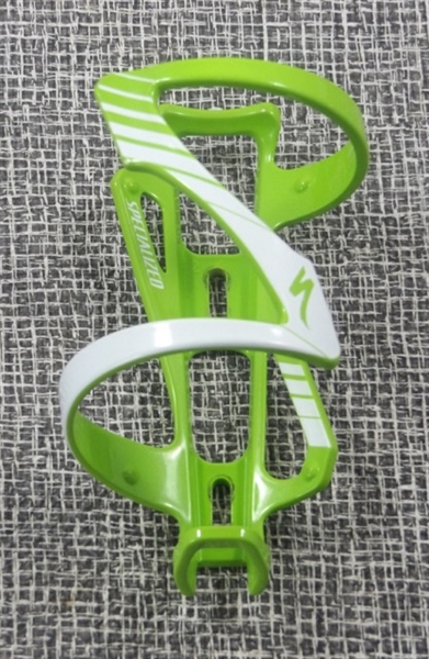 Specialized water bottle cage green left side entry