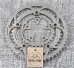 52/42/30t x 135/74 bcd Campagnolo Record triple 10 speed aluminum chainring set Italy