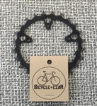 24t x 74 bcd Shimano SG C-24 steel chainring black