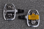 "Shimano PD-A520 SPD clipless platform mountain pedal 9/16"" with cleats new nib"